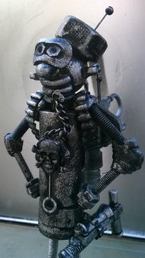 screwed sculps medium custom robot close up