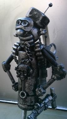 screwed sculps medium custom robot close up