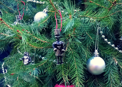 custom christmas tree decoration robots