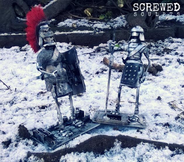 Roman Robots by Screwed Sculpts