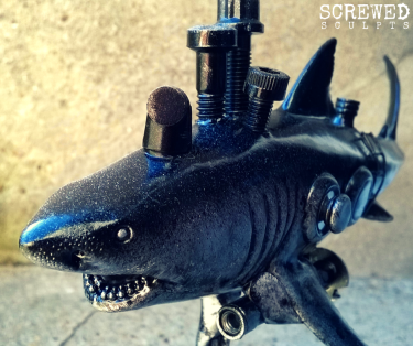 Bespoke Upcycled Art: Shark