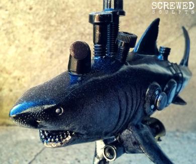 Bespoke Upcycled Art: Shark