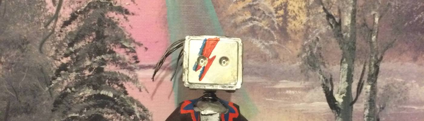 David Bowie Upcycled Robot