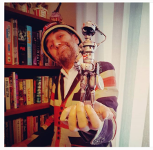 Professor Elemental with his bot!