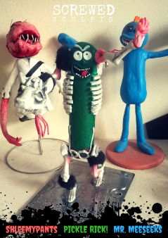Screwed Sculpts clay editions! - based on Rick & Morty