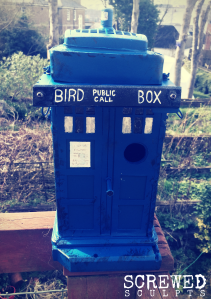 TARDIS bird box by Screwed Sculpts