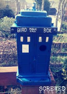 TARDIS bird box by Screwed Sculpts