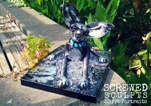 Custom Dog Portrait Sculpture