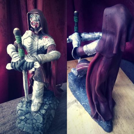 Clay Zombie King Arthur