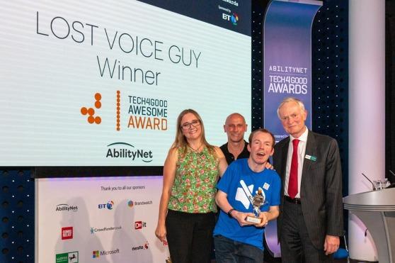 Lost Voice Guy - Tech4Good 2019 Winner