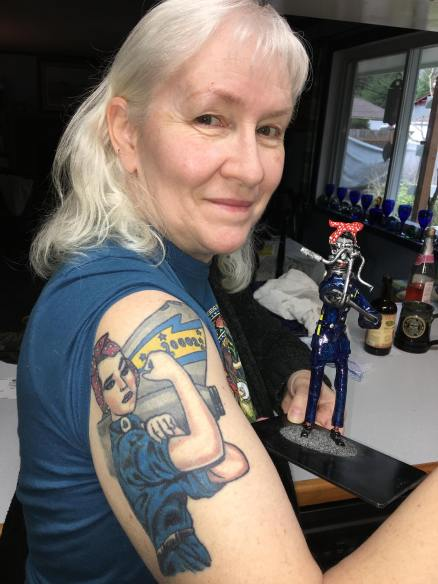 Customer with Rosie Bot