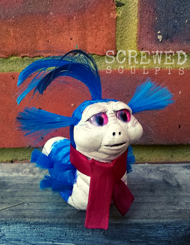 'Allo!' the Labyrinth worm created for the @tinyjareth instagram